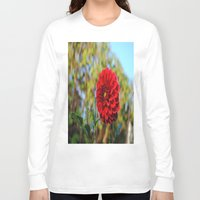 dahlia Long Sleeve T-shirts featuring Dahlia by Renee Trudell