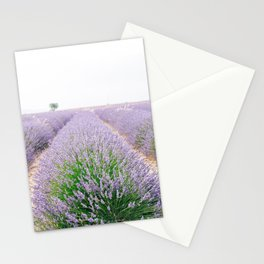 Lavender Field in Provence, Frane Stationery Cards