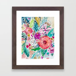 High by the Beach Painterly Floral Framed Art Print