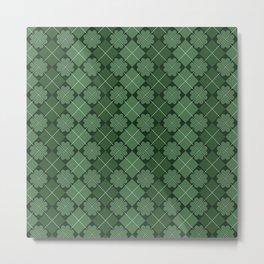 Irish pattern, Irish gift, ireland, shamrock, irish gifts women, st patricks day, luck of the irish Metal Print