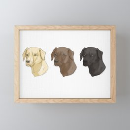 Labradors of Every Flavor Framed Mini Art Print