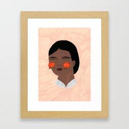 Blooming, Blushing Framed Art Print