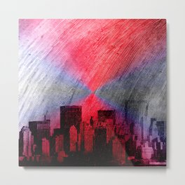 cityscape and colored sky -3- Metal Print
