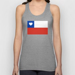 Texas State Flag with Heart Unisex Tank Top