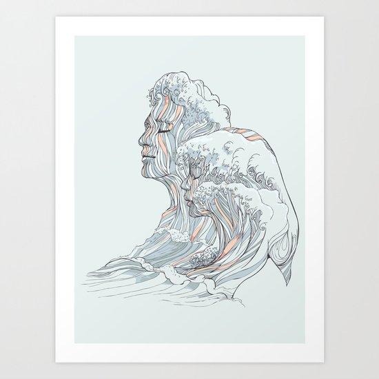 BREATHE DEEPLY Art Print