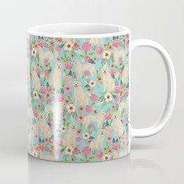 Golden retrievers must have florals mint pastel gender neutral dog art cute pet portraits labrador  Coffee Mug