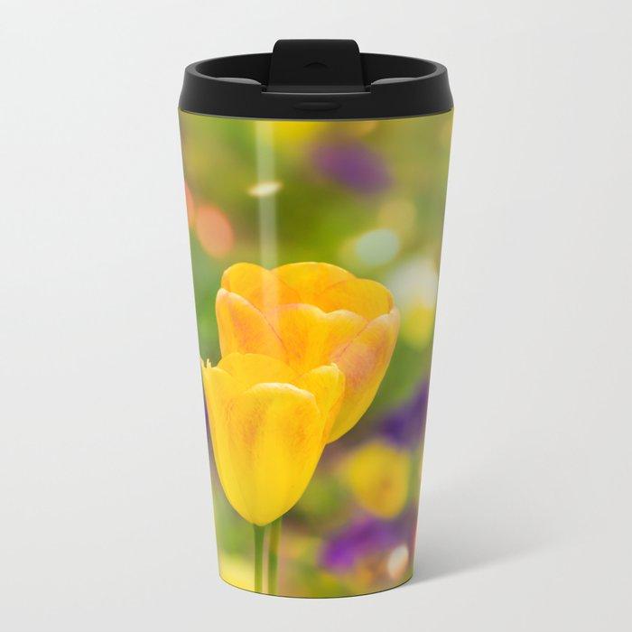 Valentine tulips Metal Travel Mug