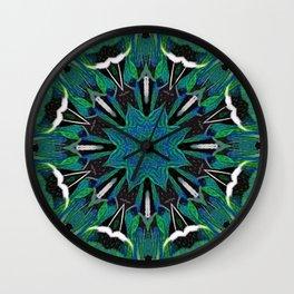 Multiple Cracks Nausea Mandala Wall Clock