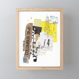 Columbus Framed Mini Art Print