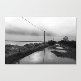 Flooded Route Canvas Print
