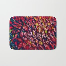 Flowers of the Red Tree, Crimson King Tree by Seraphine Louis Bath Mat