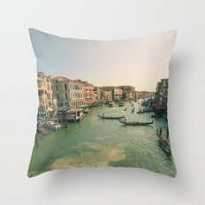 Grand Canal of Venice Throw Pillow