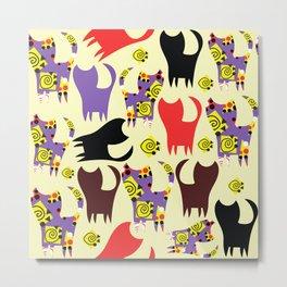 Cats pattern #4W Metal Print