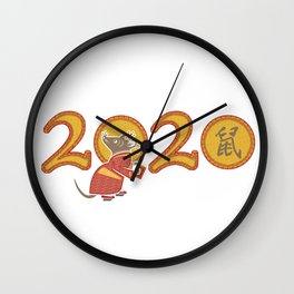2020 The Year of the Metal Rat Wall Clock