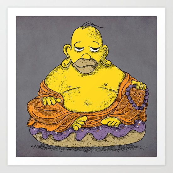 Bouddhomer Art Print