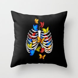 Butterflies in my stomach Throw Pillow