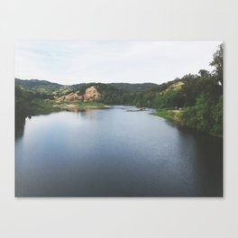 Umpqua River Landscape Oregon Canvas Print