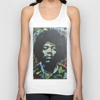 rock and roll Tank Tops featuring Rock and Roll Blues by Matt Pecson
