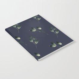 Winter Leaf Pattern (Blue) Notebook
