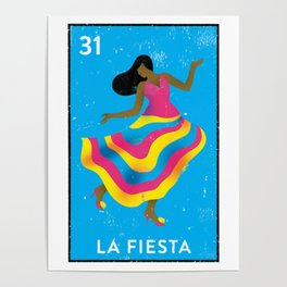 The Party Mexican Loteria Bingo Card Poster