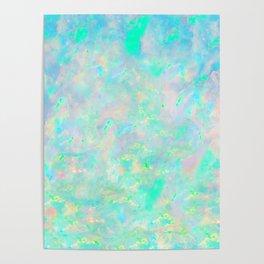Light Blue Opal Poster
