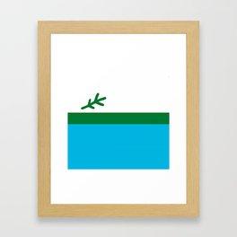 Labrador Flag Square Framed Art Print