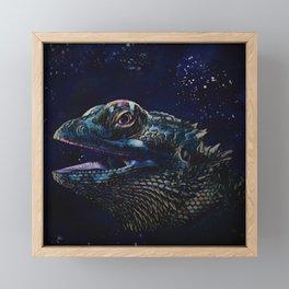 Bearded Dragon Framed Mini Art Print
