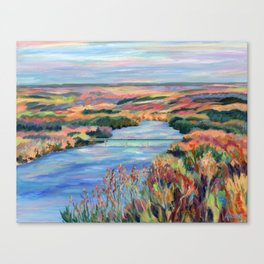 Autumn on the Delaware River Canvas Print