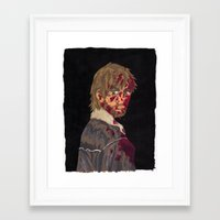 rick grimes Framed Art Prints featuring Rick Grimes by Megan