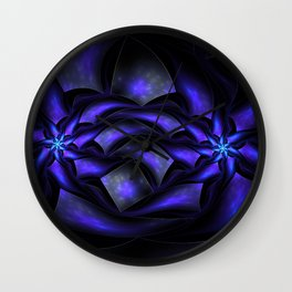 Surreal flowers fractal Wall Clock