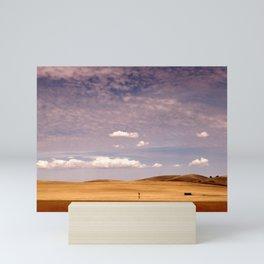 Ripening Cereal Rural Landscape Mini Art Print