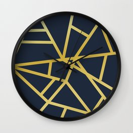 Copper and Midnight Navy  #society6 #decor #buyart #artprint Wall Clock
