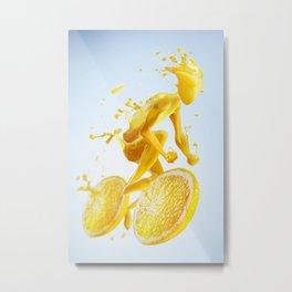 Juice Bike Metal Print