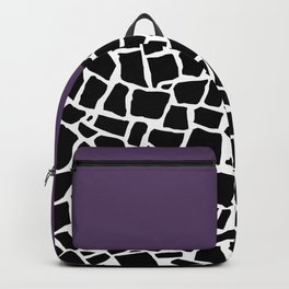 British Mosaic Purple Boarder Backpack