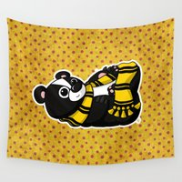 hufflepuff Wall Tapestries featuring Mommy's Future Hufflepuff by mikaelak