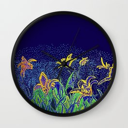 Lily of Paradise Wall Clock