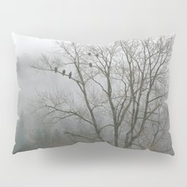 Bald Eagles in Tree in Misty Valley Pillow Sham