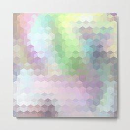 Hexagon Cube Tiles 204 Metal Print
