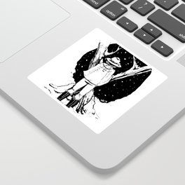 Snow Crossed Trees Sticker