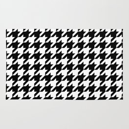 Black Houndstooth - Baby Stimulation Pattern Rug