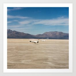 Space Shuttle in 1982 The STS-3 landing on Northrup Strip at White Sands New Mexico Art Print