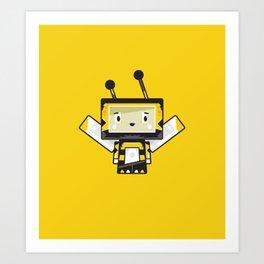 Cute Cartoon Blockimals Bee Art Print