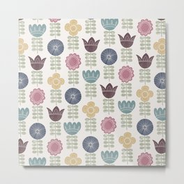 Flower block print Metal Print