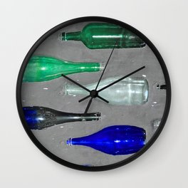 Wall Stone Glass Brick  Wall Clock