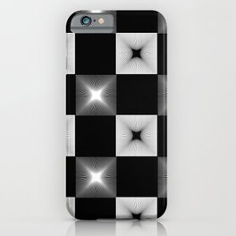 Black And White Illusion Pattern iPhone Case
