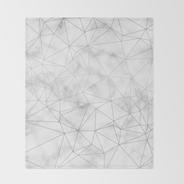 Marble Silver Geometric Texture Throw Blanket