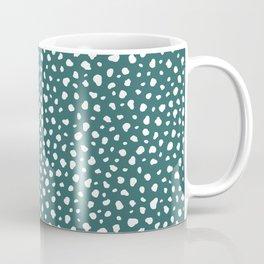 Teal and White Spots Coffee Mug