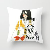 soldier Throw Pillows featuring Soldier by Dunia Design
