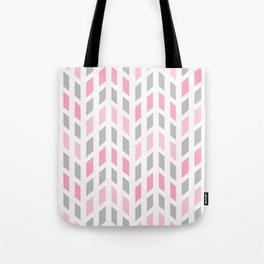 Pink Gray Mosaic Tile  Tote Bag