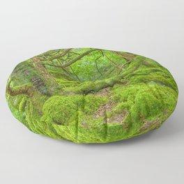 Emerald Forest Floor Pillow